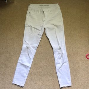 Articles of Society White Denim Ripped Jeans